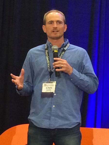 Chris Leake speaking